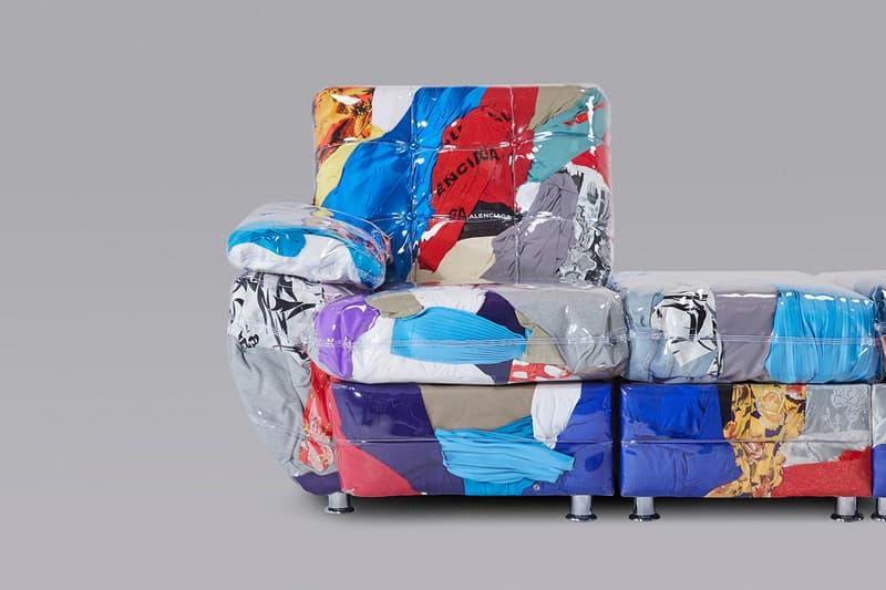 廢物利用 - Balenciaga 攜手 Harry Nuriev 打造「瑕疵服飾沙發」