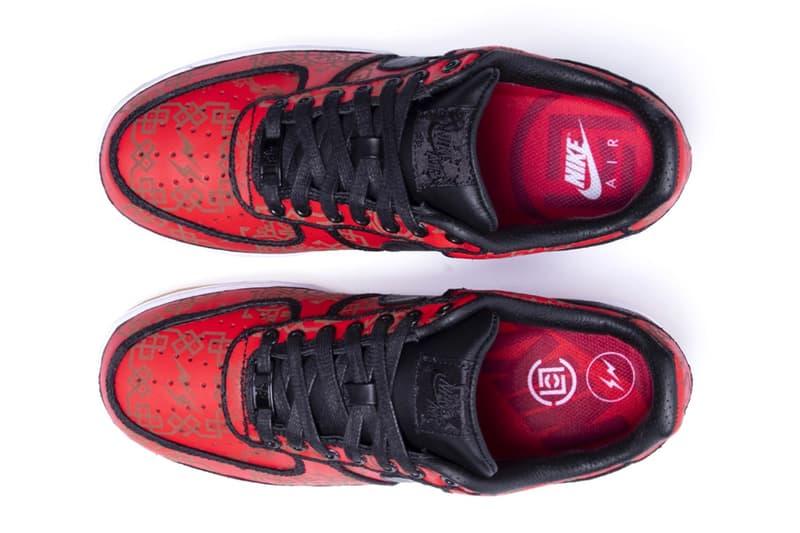 fragment design x CLOT x Nike Air Force 1 發售日期確認