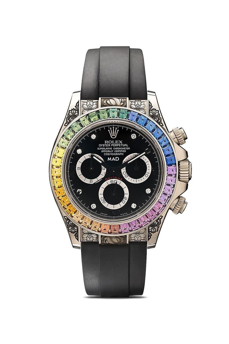 MAD Paris 打造全新 Rolex Daytona 彩虹藍寶石高級定製腕錶