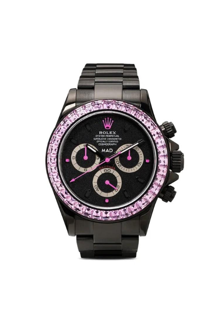 MAD Paris 打造要價 $82,000 美元 Rolex Daytona 粉紅藍寶石定製腕錶