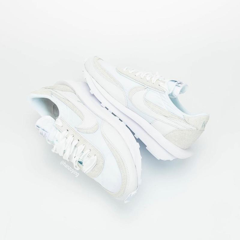 近賞 sacai x Nike LDWaffle 最新全白配色完整面貌