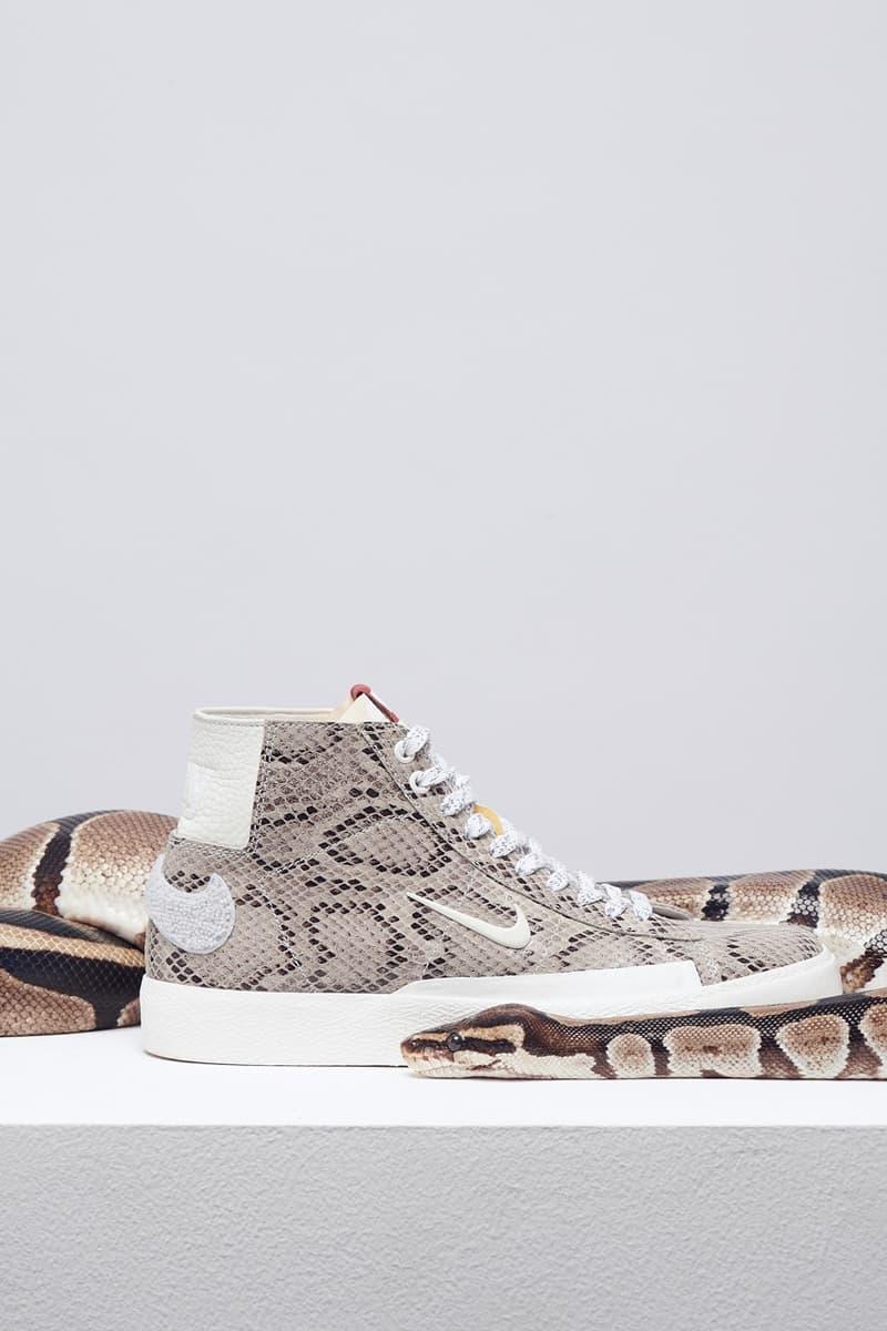 Soulland x Nike SB Blazer 全新蛇紋皮革聯乘鞋款發佈