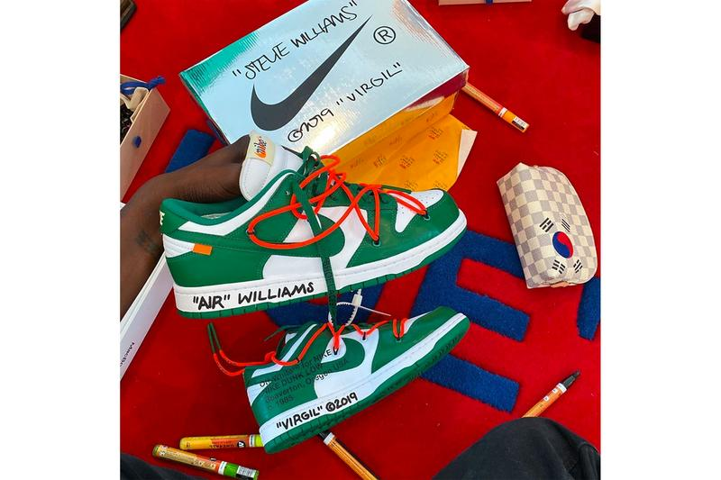 Virgil Abloh 釋出 Off-White™ x Nike Dunk Low「Pine Green」配色近照