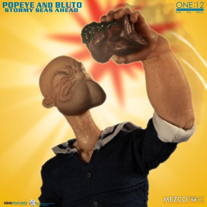 童年回憶 − 玩具品牌 MEZCO 推出「Popeye & Bluto」雙人組合套裝公仔