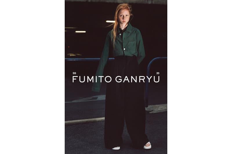 Fumito Ganryu 2020 春夏系列 Lookbook 正式發佈