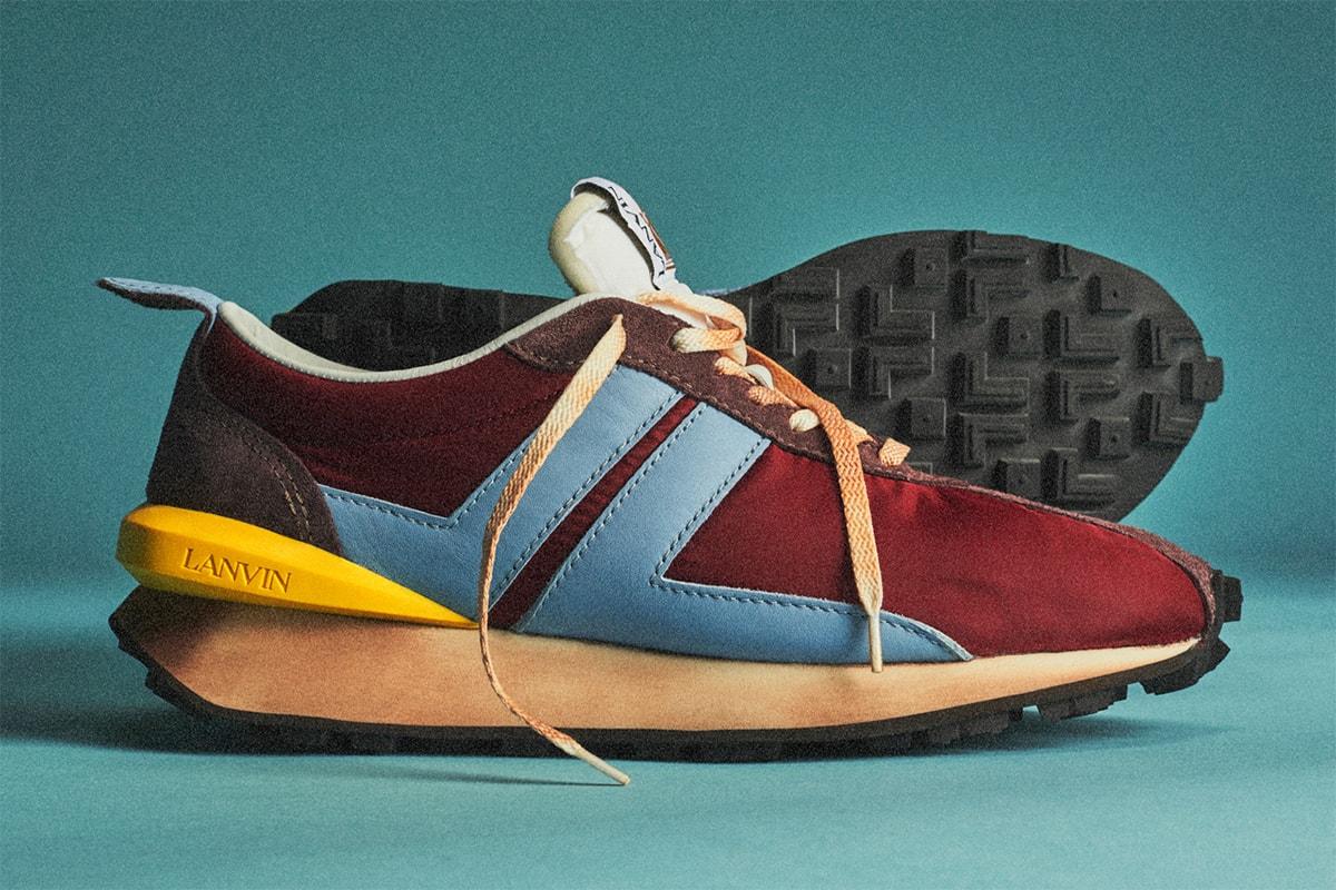 70 年代競速跑鞋時尚化・Lanvin 2020 春夏復古跑鞋機種 Bumper Sneaker