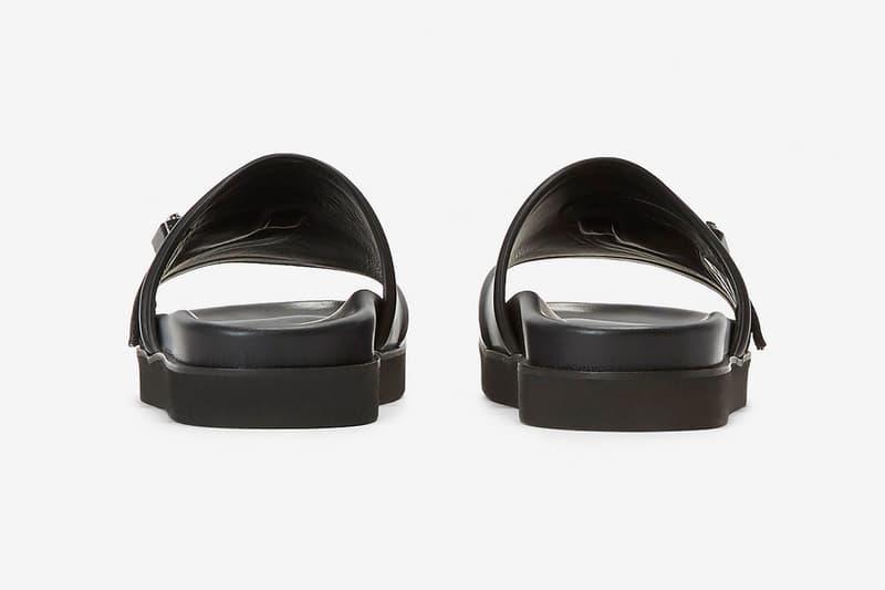 1017 ALYX 9SM 推出全新皮革 Rollercoaster Buckle 拖鞋