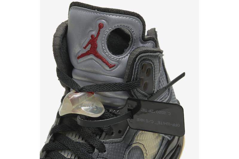 Off-White™ x Air Jordan 5 全新聯乘鞋款官方圖輯、發售日期正式公開