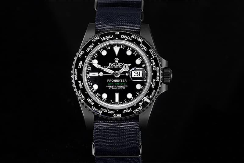 Pro Hunter 打造黑魂 Rolex World Time 時計