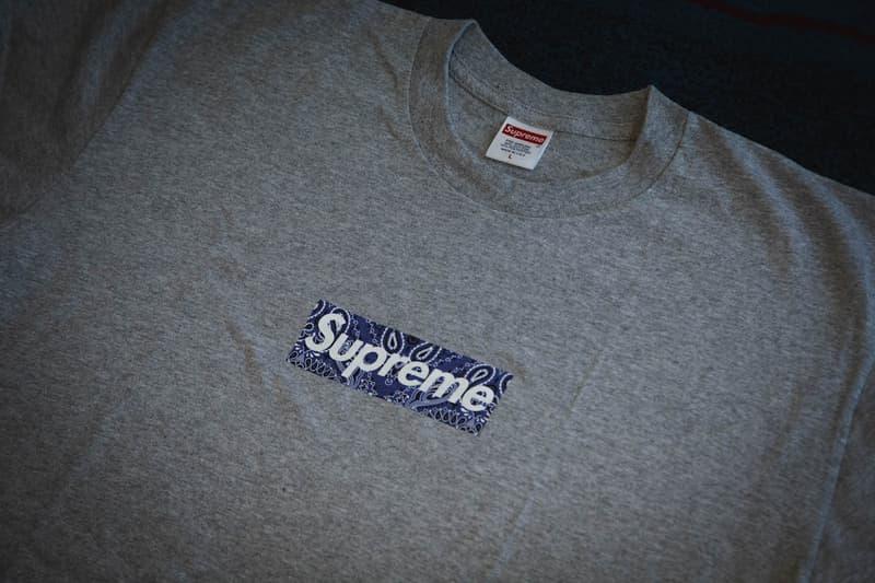 潮物喜迎春!HYPEBEAST 送出 Supreme Bandana Box Logo T-Shirt