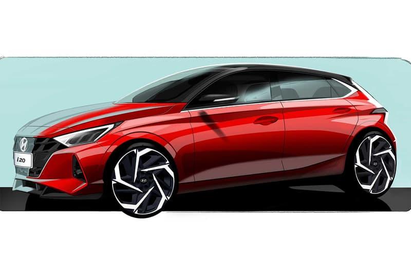 Hyundai 發表新一代 i20 小型揭背車的外觀草圖