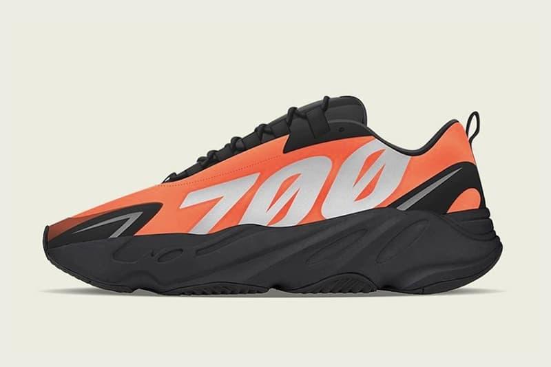 adidas YEEZY 鞋款 700 MNVN 最新配色「Orange」發售情報公開