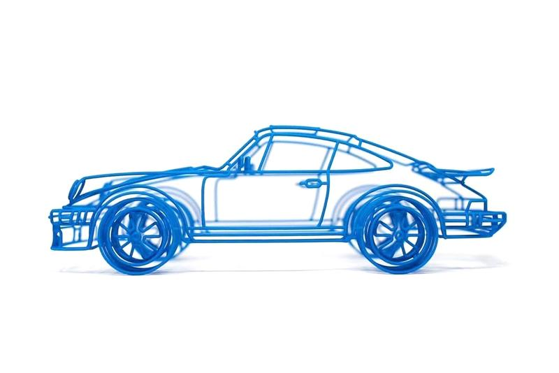 英國藝術家 Benedict Radcliffe 打造「Porsche 934」別注彩色鐵絲模型