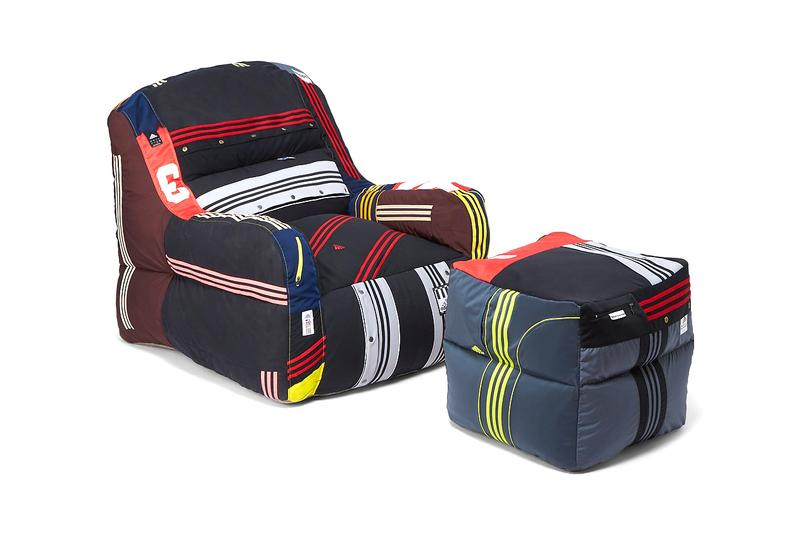 LN-CC 攜手 Dr. Romanelli 回收 adidas 古著運動裝打造懶人沙發組