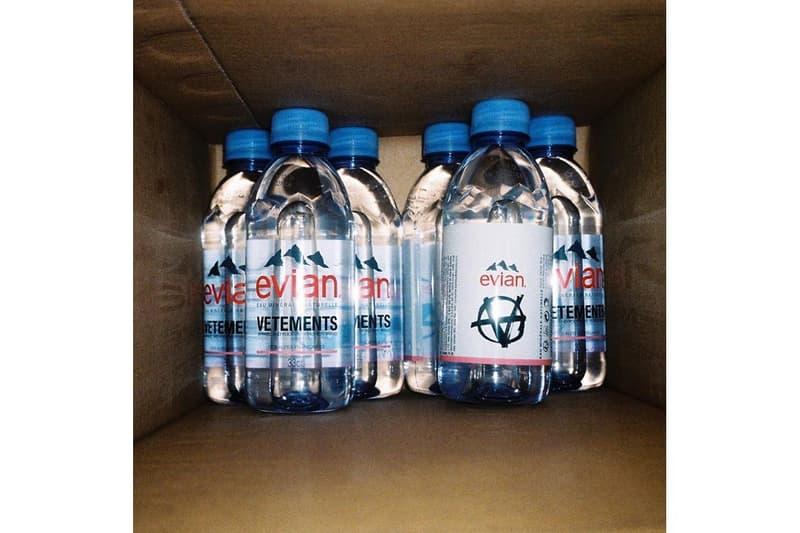 潮流加持-Vetements 聯結 Evian 推出別注樽裝水包裝設計