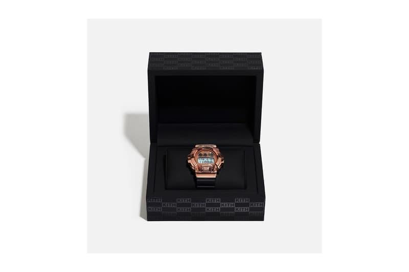 25 周年致賀-KITH x G-SHOCK 釋出 GM-6900 玫瑰金鋼腕錶聯乘作