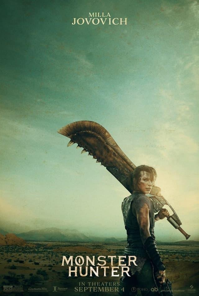 人氣電玩改編電影《Monster Hunter 魔物獵人》角色宣傳海報正式公開