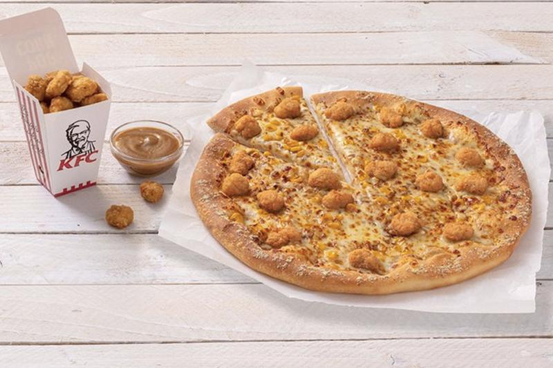 驚奇不斷!Pizza Hut 與 KFC 攜手推出全新「勁爆雞米花口味 Pizza」