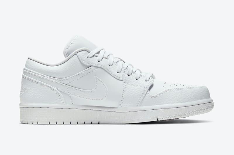 Air Jordan 1 Low「Triple White」配色即將於今夏正式發佈
