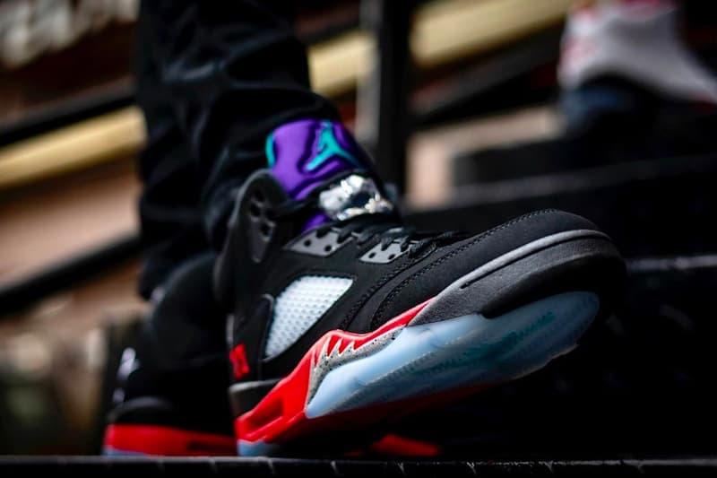 率先預覽 Air Jordan 5 最新配色「Top 3」上腳圖輯