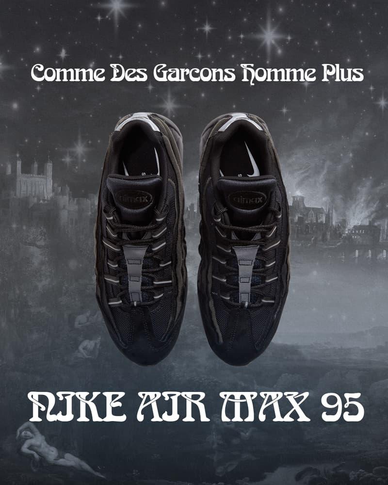 COMME des GARÇONS HOMME PLUS x Nike Air Max 95 聯乘鞋款台灣上架情報