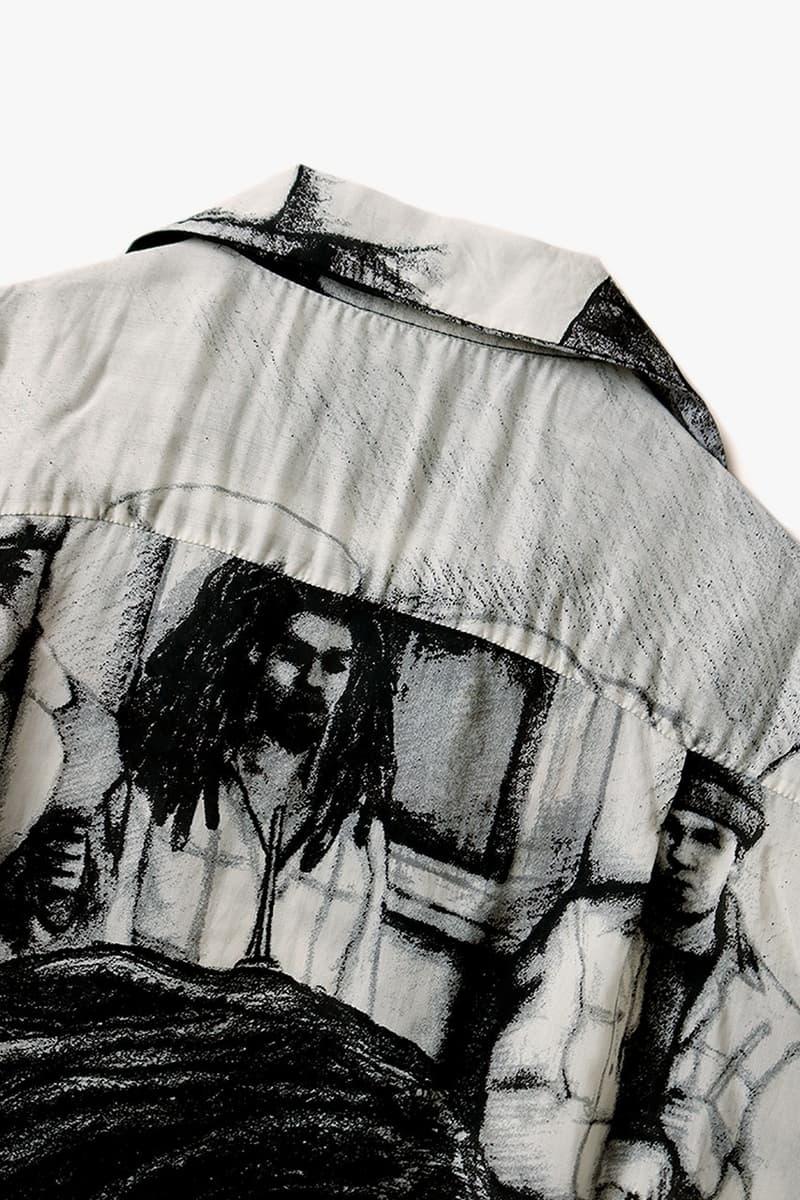 KAPITAL 推出全新黑白絲綢 Hawaiian Shirt