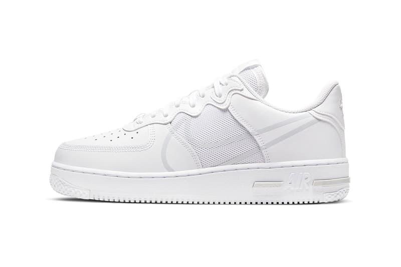 Nike 全新鞋款 Air Force 1 React D/MS/X 全白配色正式發佈
