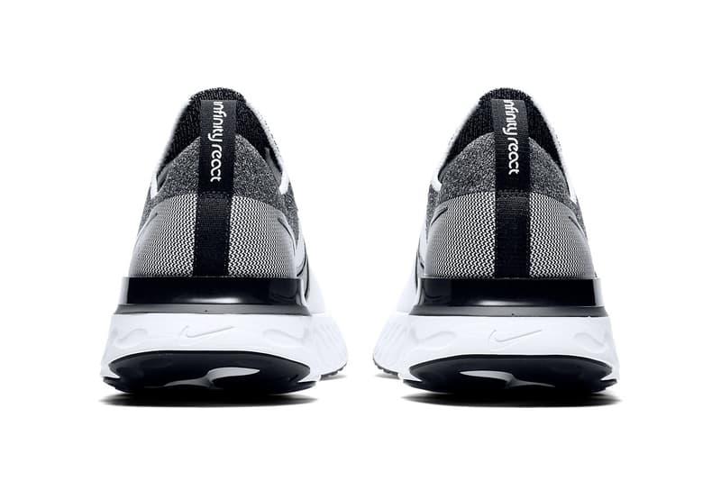 Nike 全新 React Infinity Run 跑鞋最新黑白配色正式發佈