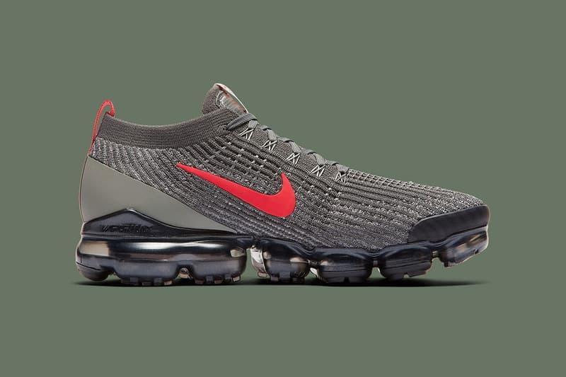 Nike VaporMax Flyknit 3 最新 Olive & Crimson 配色發佈
