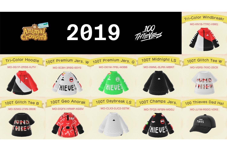 100 Thieves 於《集合啦!動物森友會》推出全套服飾系列
