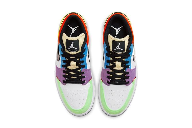 異素材拼砌-Air Jordan 1 Low「Multicolor」配色登場