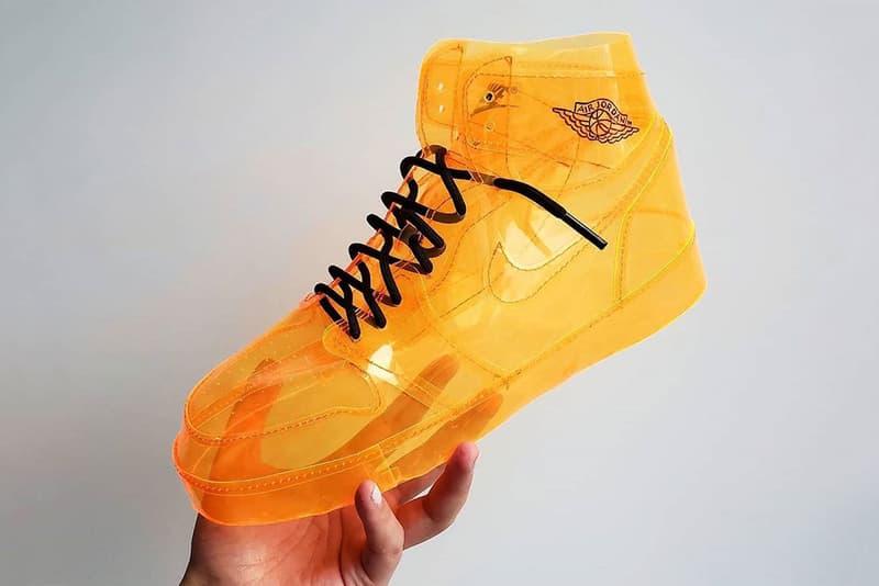 透視全開-創意鞋迷客製「Air Jelly Jordan 1」塑膠鞋款
