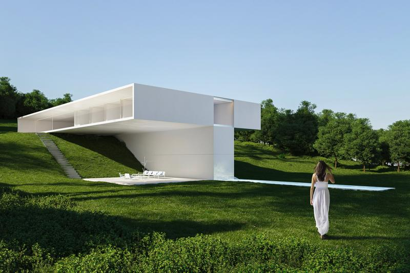 走進斜坡上的稜角建築:Benahavis House