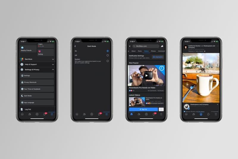 密鑼緊鼓!Facebook iOS 版本即將加入「Dark Mode」深色模式介面