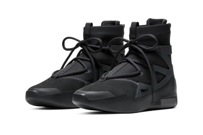 Nike Air Fear of God 1「Triple Black」配色香港區抽籤情報公開
