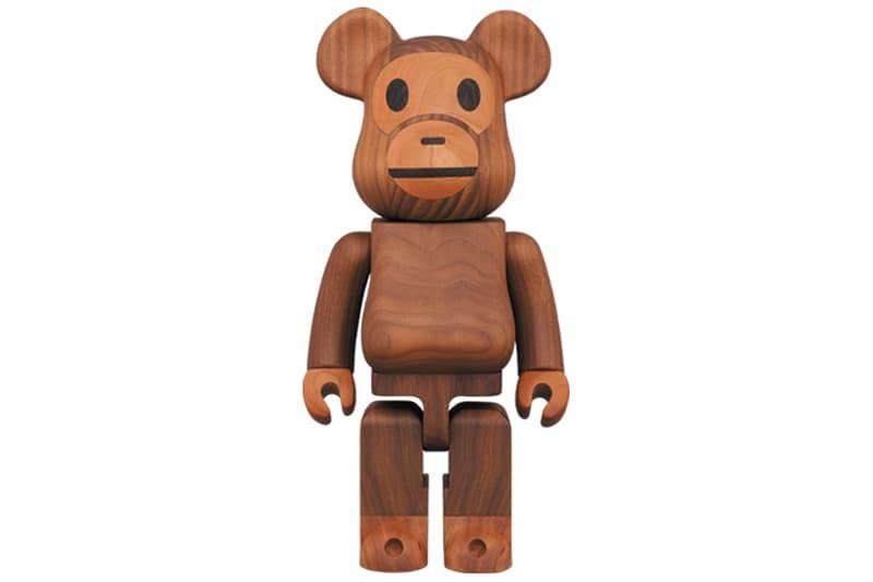 Karimoku x Medicom Toy 攜手打造 400% BE@RBRICK 木製 BAPY MILO 玩偶