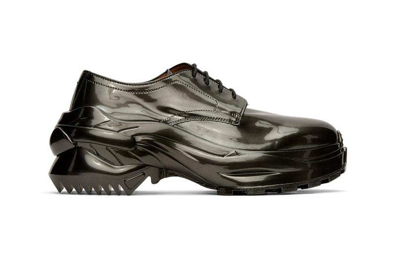 Maison Margiela 推出全新 Cross Derby Glossy Gunmetal 別注鞋款