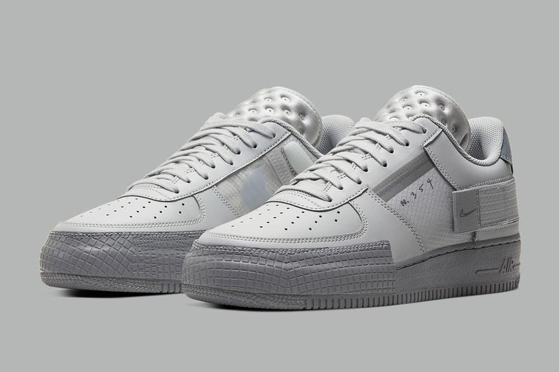 Nike Air Force 1 Type 最新配色「Triple Grey」正式曝光