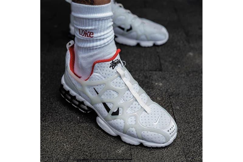率先預覽 Stüssy x Nike Air Zoom Spiridon Kukini 實著圖輯