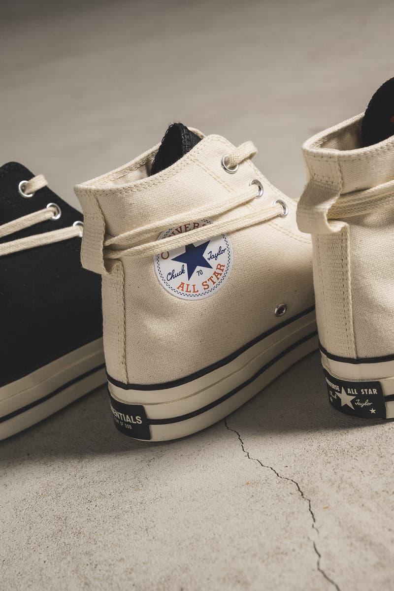 HBX 抽籤渠道開啟!Fear of God ESSENTIALS x Converse Chuck 70 鞋款再來襲
