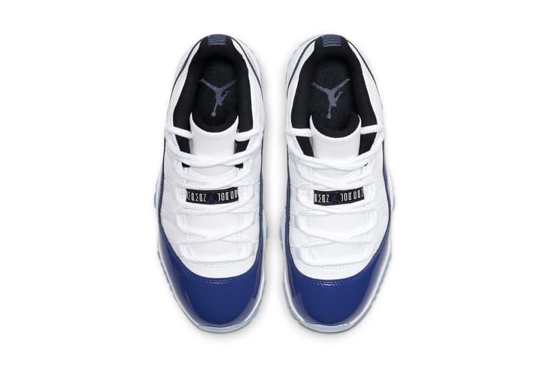 Air Jordan 11 Low 最新配色「Concord Sketch」官方圖輯、發售情報公佈