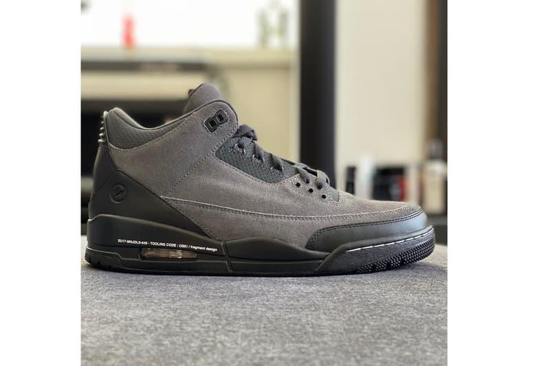 回憶總是美好的!藤原浩曝光 Sample 版本 fragment design x Air Jordan 3 鞋款
