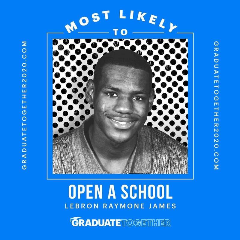 Graduate Together!LeBron James 爲全美高中畢業生舉辦線上畢業典禮