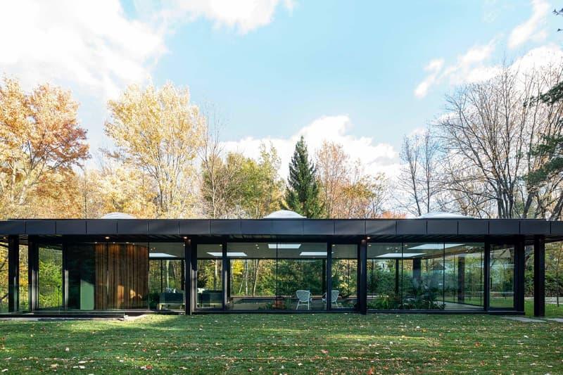 走進森林玻璃泳池別墅:Pavilion A Pool House
