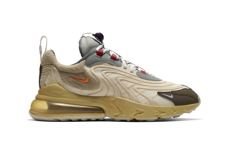 Travis Scott x Nike Air Max 270 React 聯乘鞋款官方圖輯正式發佈