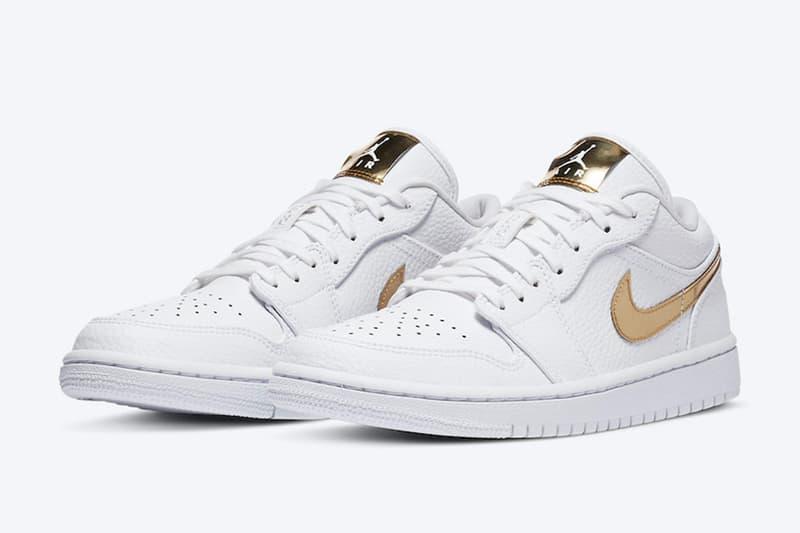 Air Jordan 1 Low 推出奢華感新配色「White/Metallic Gold」
