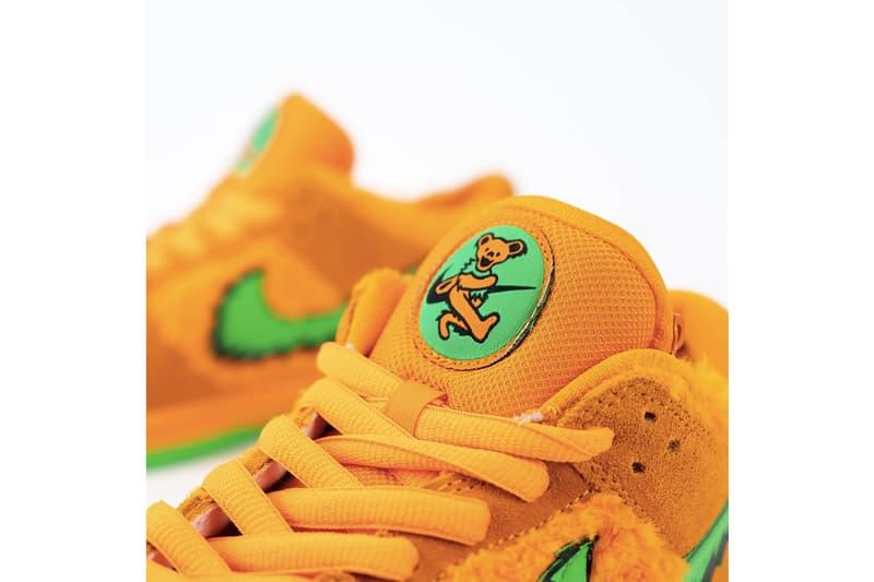 Grateful Dead x Nike SB Dunk Low「小熊」聯名橘色鞋款高清近賞圖輯曝光