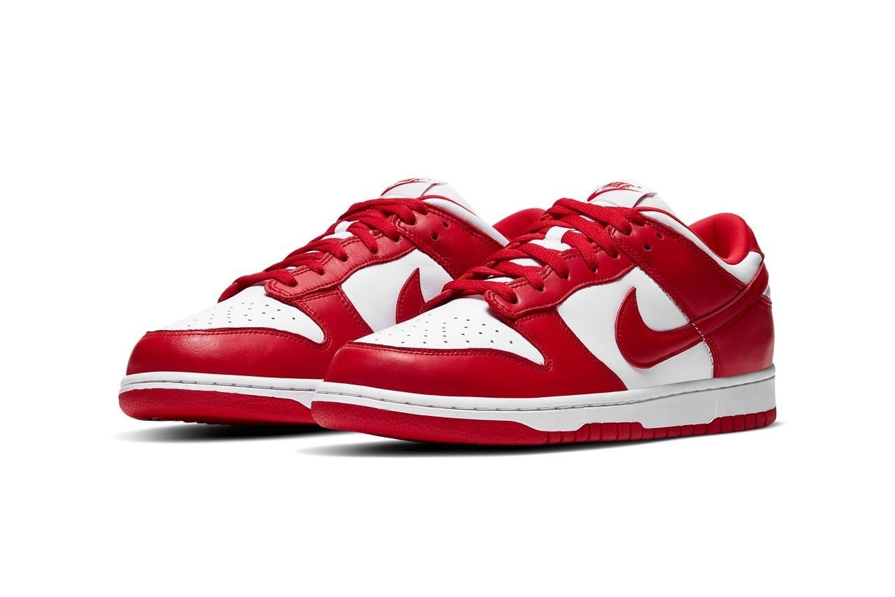 Nike Dunk Low SP「University Red」配色鞋