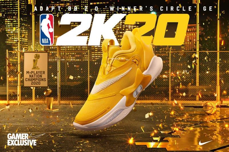 Nike 攜手 NBA 2K 推出全新決賽配色 Nike Adapt BB 2.0「Winner's Circle」
