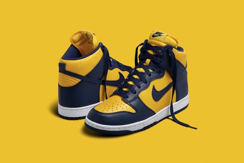 Nike 將迎來經典配色 Dunk Hi「Michigan」的復刻回歸